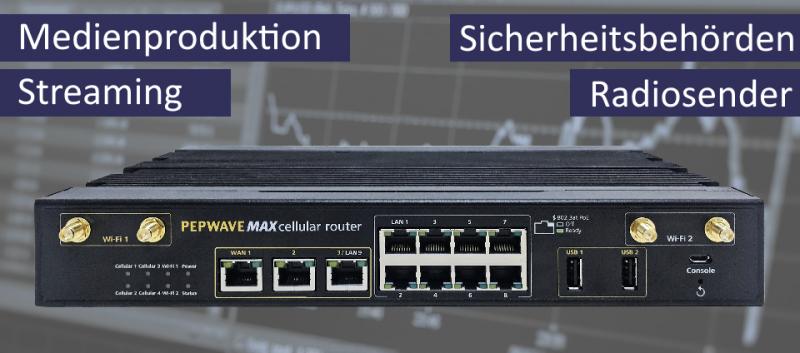 Peplink MAX HD4 MBX Multi-WAN Router