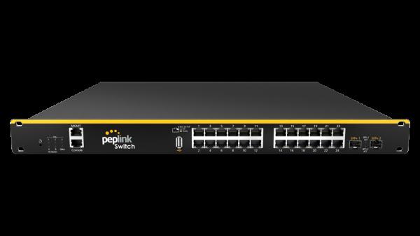 Peplink SD Switch 24-Port Enterprise (Vorderansicht)