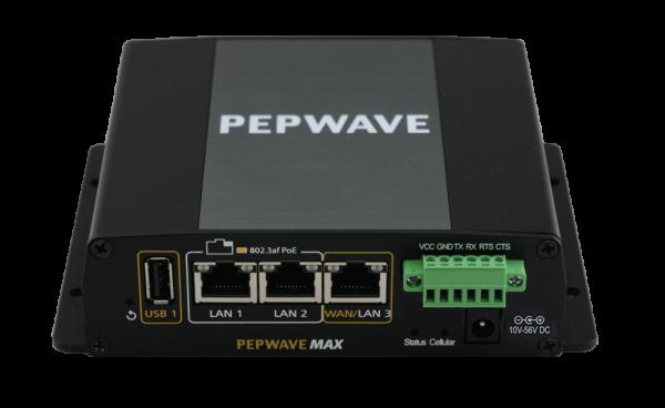 Peplink MAX BR1 ENT 4G LTE Single-WAN Router (Vorderseite, Oben)